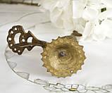 Старая миниатюра, коллекционная бронзовая птица, павлин, бронза, литье, Германия, фото 5