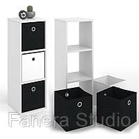 Полиця для книг, стелаж для будинку на 3 комірки з ДСП, фото 5