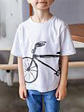 "Vikamoda Дитяча футболка з принтом ""велосипед"" 10023, фото 9"