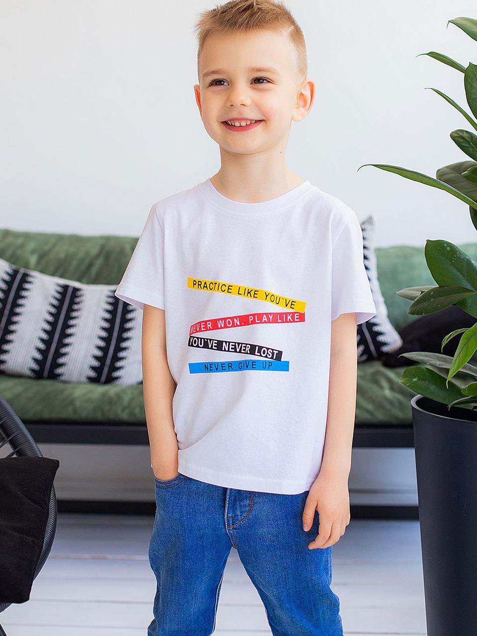 Vikamoda Дитяча футболка з різнобарвним принтом 10027
