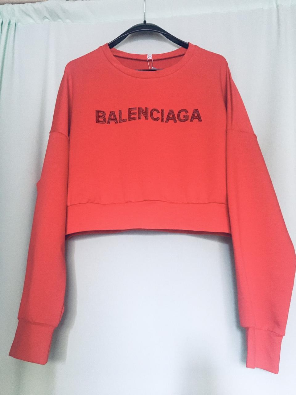 Молодежные женские красные свитшоты Баленсиага от производителя оптом и в розницу