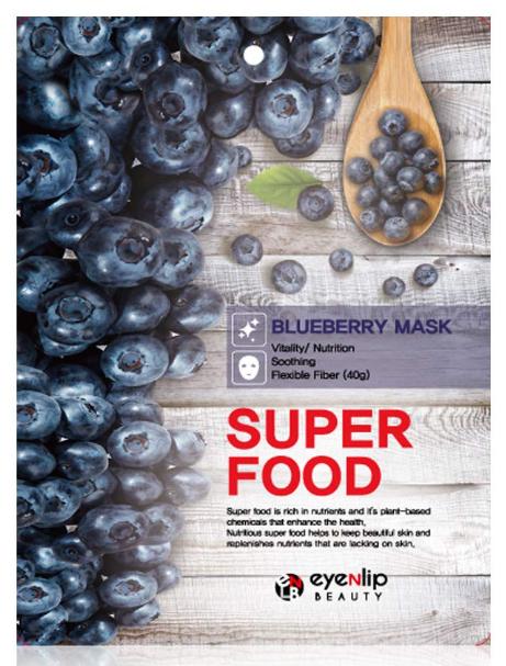 Тканинна маска з чорницею Eyenlip Super Food Mask Blueberry 23 мл