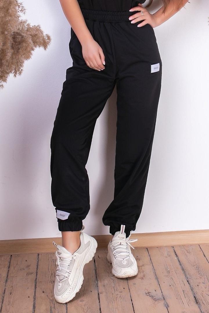 Женские спортивные штаны на шнуровке двухнитка внизу на резинке размер:42-44, 44-46.