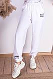 Женские спортивные штаны на шнуровке двухнитка внизу на резинке размер:42-44, 44-46., фото 2