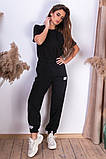 Женские спортивные штаны на шнуровке двухнитка внизу на резинке размер:42-44, 44-46., фото 5