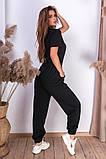 Женские спортивные штаны на шнуровке двухнитка внизу на резинке размер:42-44, 44-46., фото 3