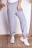 Женские спортивные штаны на шнуровке двухнитка внизу на резинке размер:42-44, 44-46., фото 6