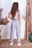 Женские спортивные штаны на шнуровке двухнитка внизу на резинке размер:42-44, 44-46., фото 4