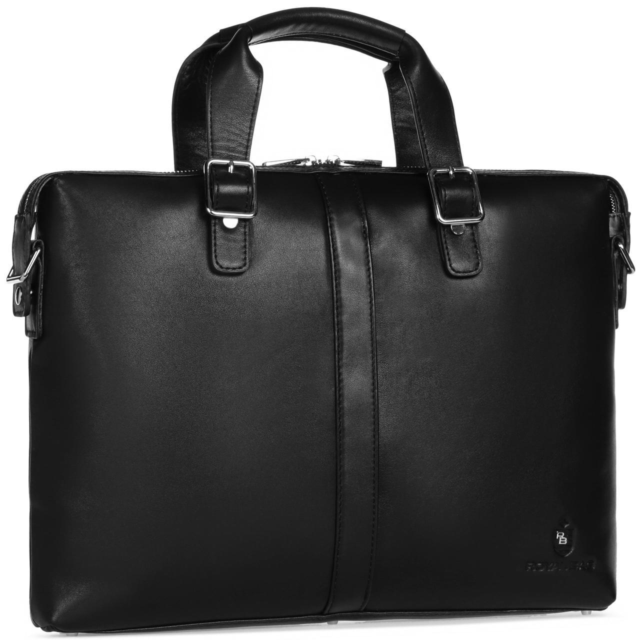 Деловая сумка из гладкой кожи для документов Royal Bag RB004A