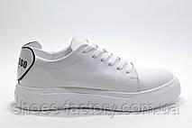 Женские белые кожаные кеды Ditas, White, фото 3