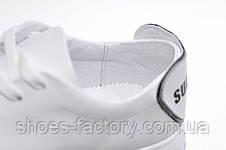 Женские белые кожаные кеды Ditas, White, фото 2
