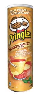 Чіпси Pringles Dinner Party Cheese Fondue, сирного фондю з часником і білим вином , 200г