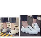 Белые кеды женские білі кеди жіночі, фото 2
