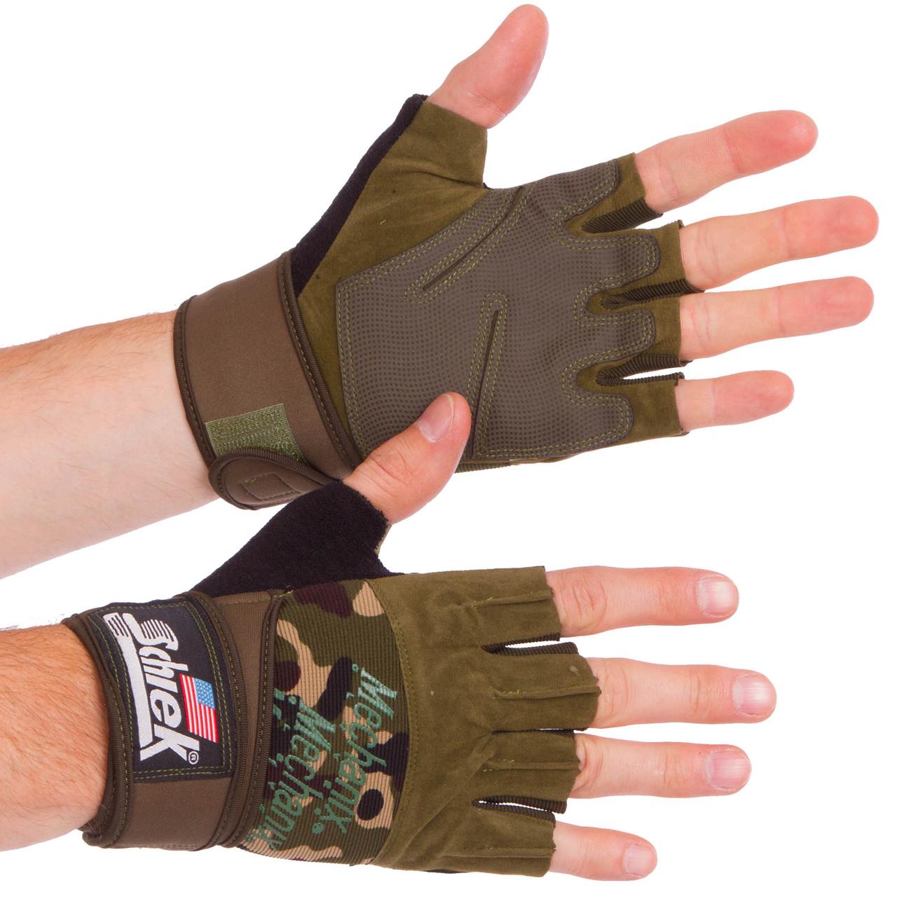 Перчатки для тяжелой атлетики SCHIEK размер M-XL цвета в ассортименте