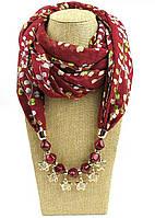 Шикарный шарф с ожерельем