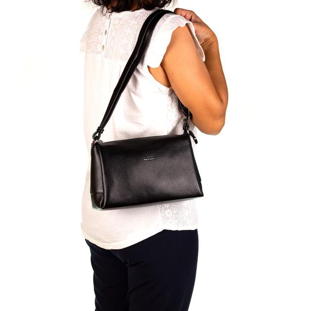 Женская сумка кожаная BUTUN 3104-004-001 кросс-боди черная