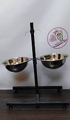 """Стійка ТМ """"Совушка"""" з мисками для собак 2 х 1,4 л"""