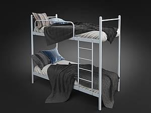 Двухъярусная кровать Ирис Tenero металлическая белая