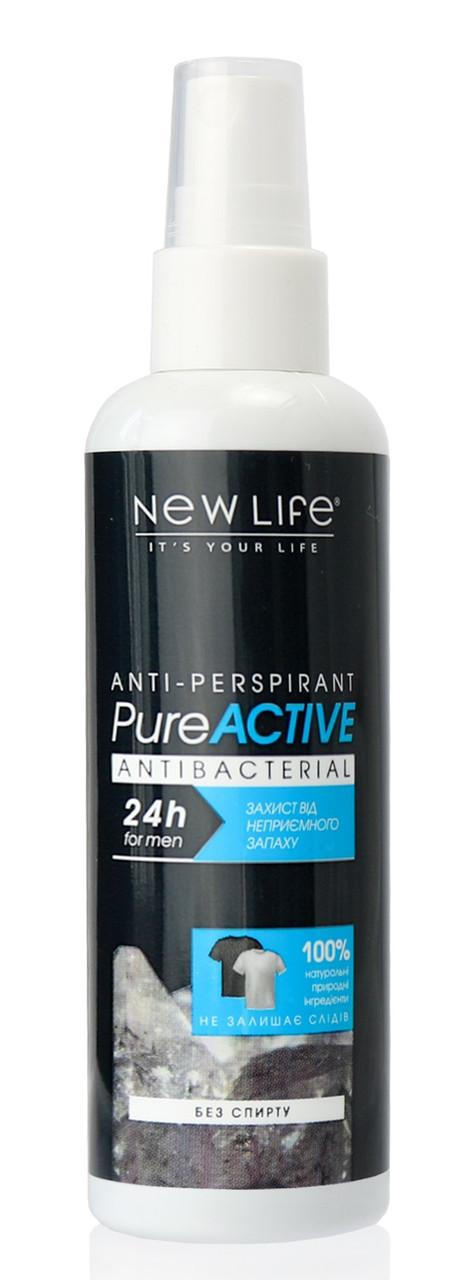 Лосьон дезодорант Для мужчин Pure Active антиперспирант 100 мл Новая Жизнь