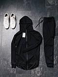 Asos мужской спортивный черный костюм с капюшоном осень-весна Костюм мужской черный демисезонный на молнии, фото 3