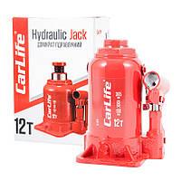 Домкрат бутылочный 12 т 190-365 мм гидравлический CARLIFE (BJ412S)