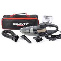 Автомобильный пылесос от прикуривателя ручной с LED фонарем 110 Вт 3.2 кПа BELAUTO Тайфун черный (BA55B)