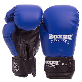Рукавички боксерські Кожвініл на липучці Boxer Еліт (10-16oz) PZ-2022