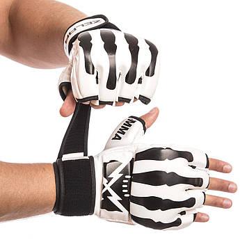 Перчатки для смешанных единоборств MMA PU ZELART (р-р S-L, цвета в ассортименте)