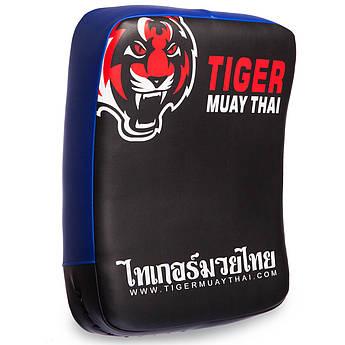 Макивара Изогнутая (1шт) кожаная MAUY THAI TIGER (поддержка для рук, р-р 40см, цвета в ассортименте)