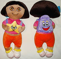 """Кукла мягконабивная, тканевая  """"Дора (Даша) - путешествинница"""""""