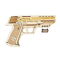 """Механічний 3D пазл """"Пістолет Вольф-01"""", 62 елемента UGEARS (4820184120723)"""