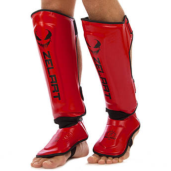 Защита для голени и стопы Муай Тай, ММА, Кикбоксинг PU ZELART (р-р S-XL, цвета в ассортименте)