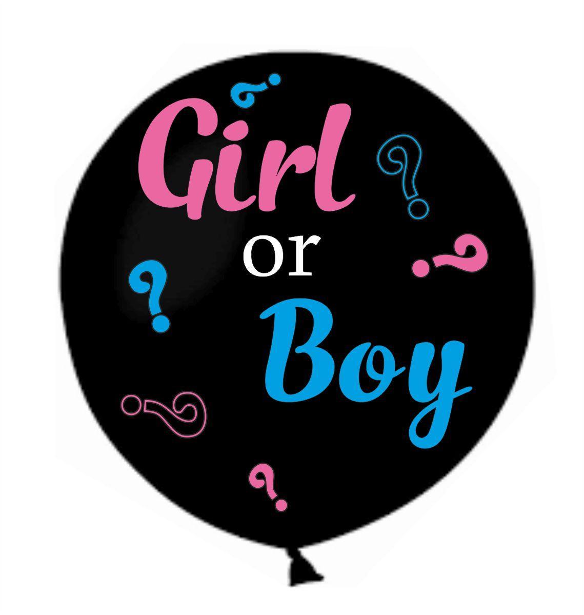"""Оракал голубий, рожевий та білий Boy or Girl на кульку латексну 31"""""""