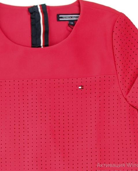 Платье для девочки TOMMY HILFIGER цвет розовый размер 7 арт KG0KG03653-500
