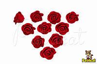 Цветы Розы Красные из фоамирана (латекса) 2 см 10 шт/уп