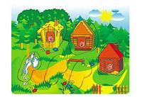Деревянные вкладыши Три поросенка, Бамсик, деревянные игрушки,деревянные рамки-вкладыши,рамка вкладыш,сотер