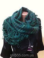 Ажурный снуд  три в одном шарф , головной убор и жилетка