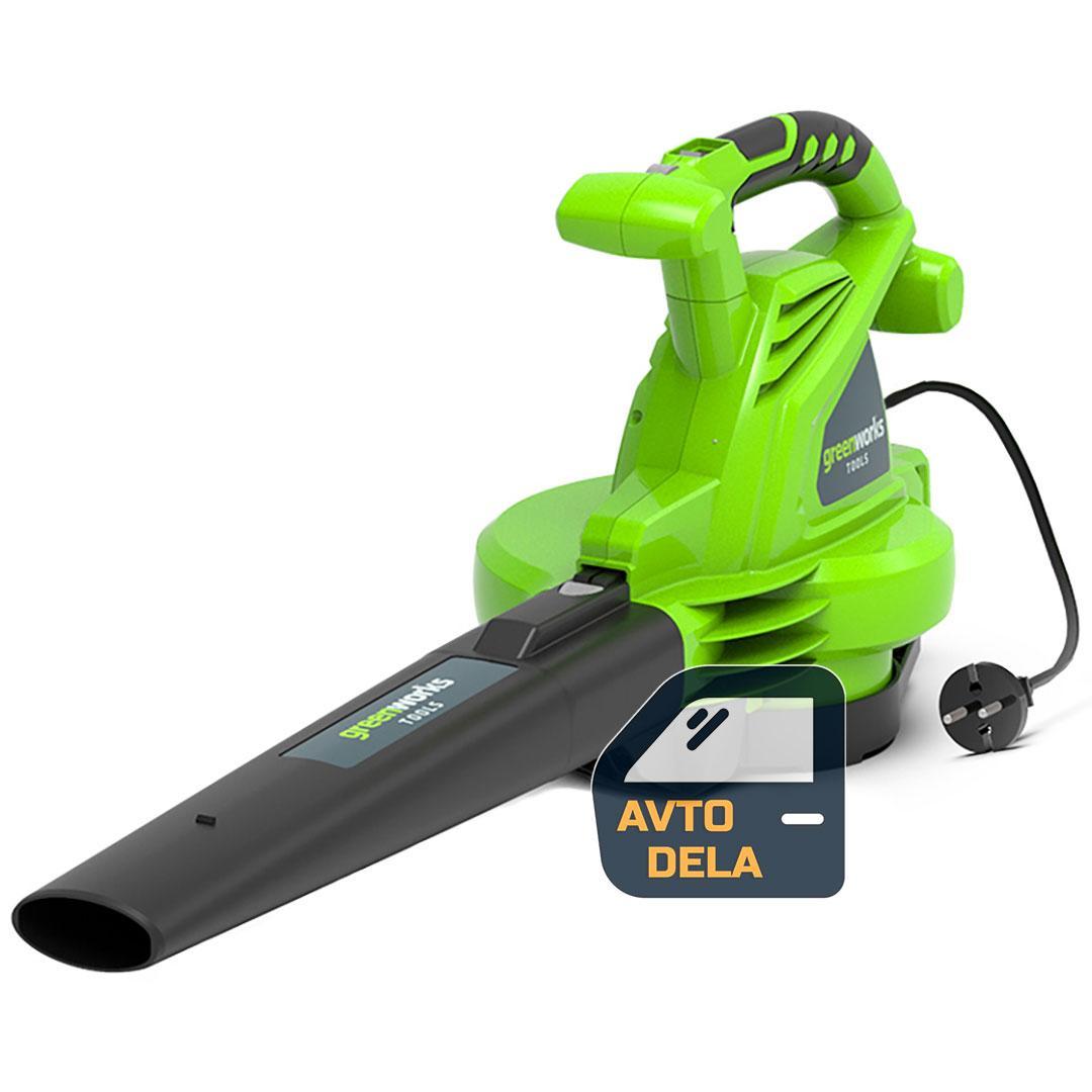 Пылесос для сада Greenworks GBV2800