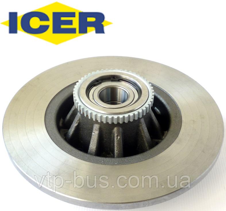 Тормозной диск задний с подшипником на Renault Trafic / Opel Vivaro (2001-2014) ICER (Испания) 78BD6846-1