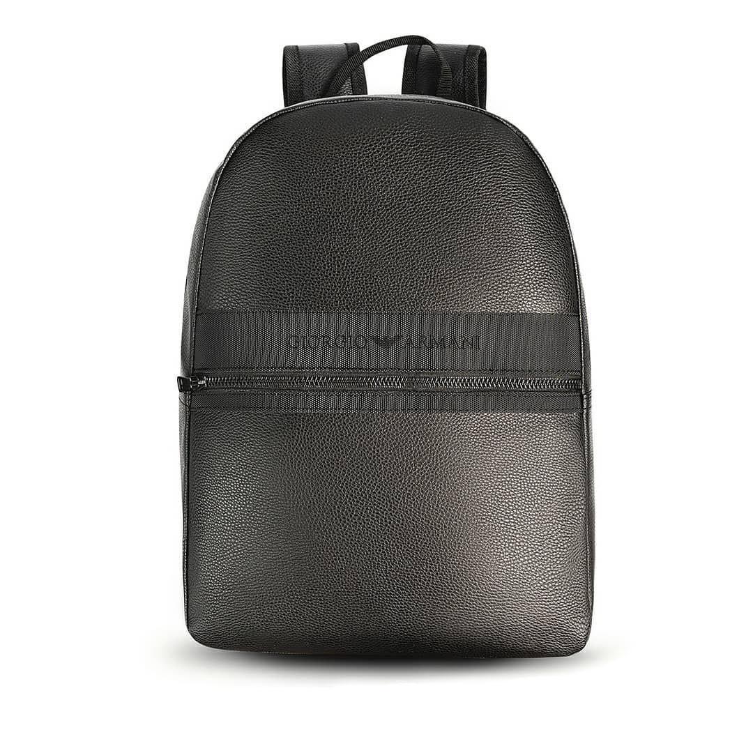 Кожаный городской рюкзак Giorgio Armani