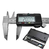 Штангенциркуль электронный цифровой 150мм штангельЦиркуль металический с lcd микрометр мікрометр в кейсе, фото 1