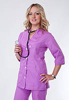 """Распродажа Медицинский костюм женский 50, 56 размер """"Health Life"""" х/б сиреневый 2243"""