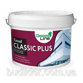 Краска фасадная GREEN LINE Fasad Classic Plus акриловая 10л