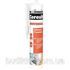 Герметик CERESIT CS 24 силиконовый белый 280мл