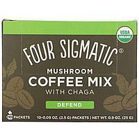 Four Sigmatic, Mushroom Coffee Mix with Chaga, 10 Packets, 0.09 oz (2.5 g) Each