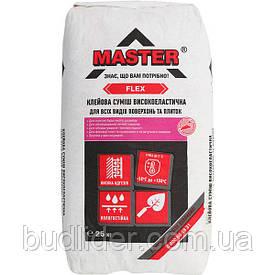 Клей для плитки MASTER FLEX Эластичный для облицовки каминов и теплых полов 25 кг