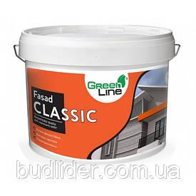 Краска фасадная GREEN LINE Fasad Classic акриловая 10л
