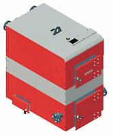 Котел твердотопливный DEFRO OPTIMA PLUS MAX (с автоматикой) 75 кВт. красно-серый