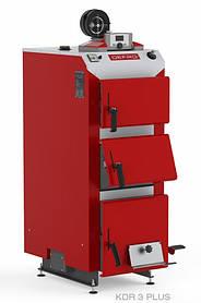 Котел твердотопливный DEFRO KDR PLUS 3 (с автоматикой) 25 кВт. красно-серый