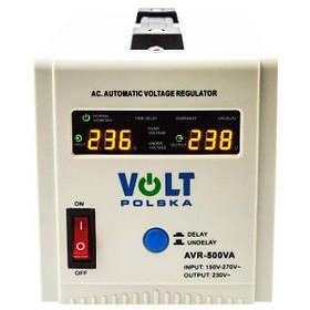 Стабилизатор напряжения Volt Polska AVR- 500-MINI белый